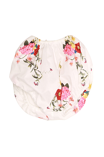Baby Floral Bloomers Hvid