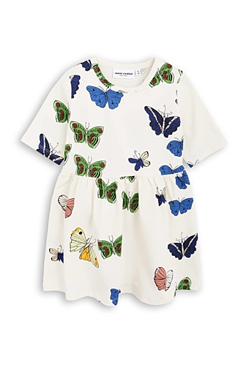 Butterflies SS Dress Offwhite