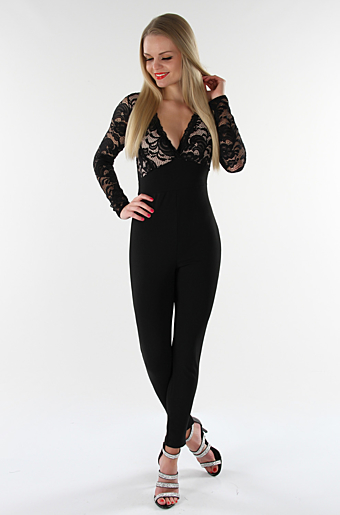 Adonna Jumpsuit Sort/nude