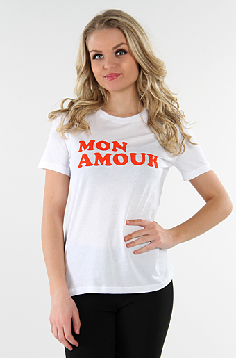 Viaure T-shirts Mon Amour Cloud dancer