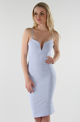 Dolly Bodycon Kjole Lyseblå