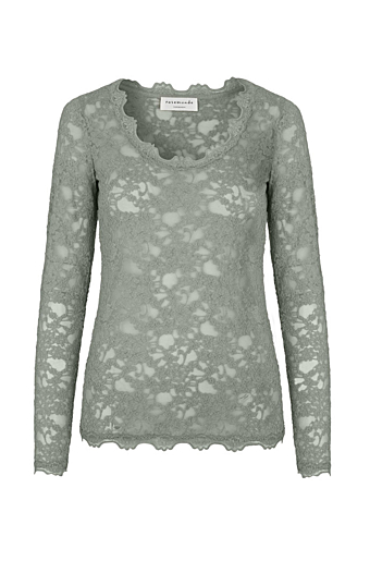 Hel-blonde Bluse Shadow green